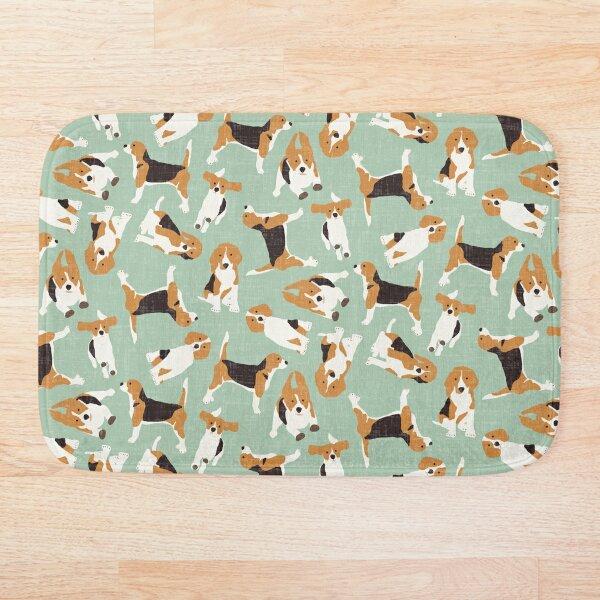 beagle scatter mint Bath Mat