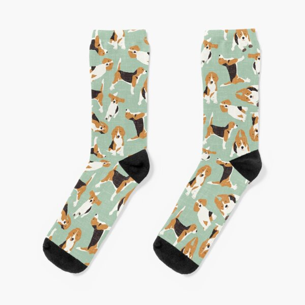 beagle scatter mint Socks
