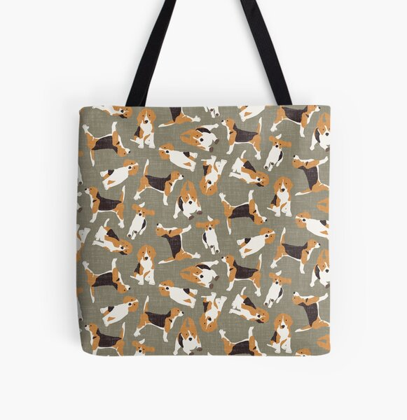beagle scatter stone All Over Print Tote Bag
