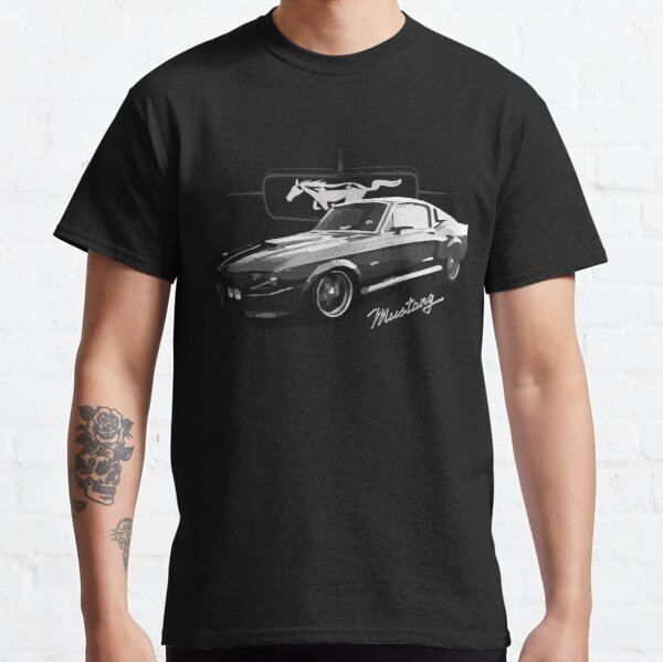 Mustang Car Inspired T-shirt Retro Ford Classic Iconic Tee Shirt