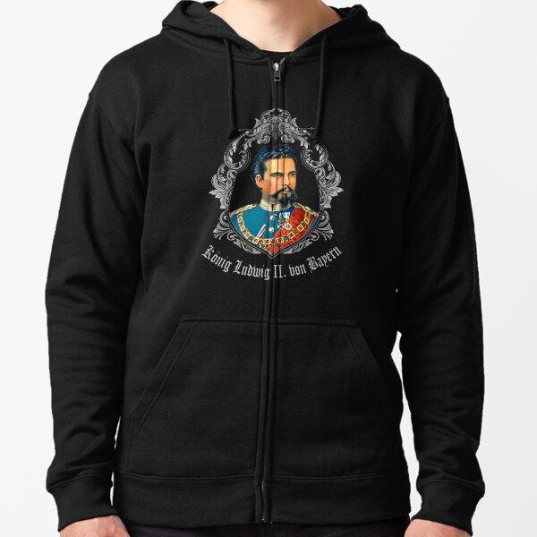 KING LUDWIG II OF BAVARIA Zipped Hoodie