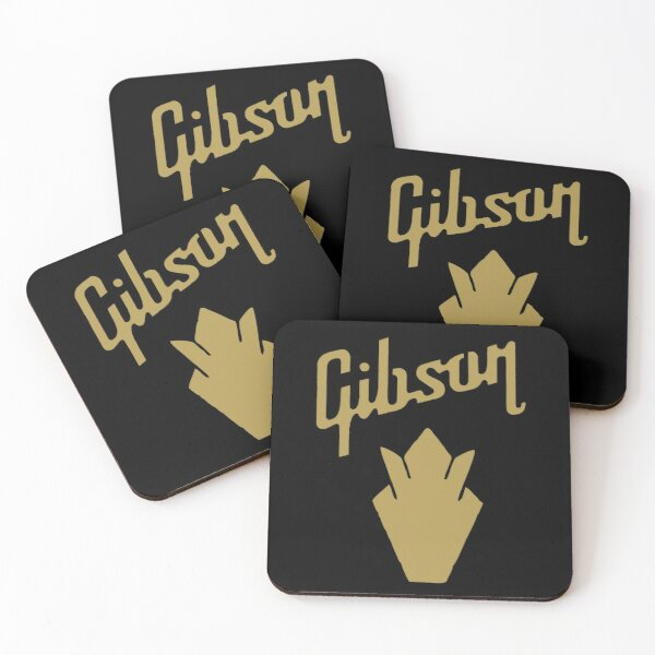 Gibson Logo Coasters (Set of 4)