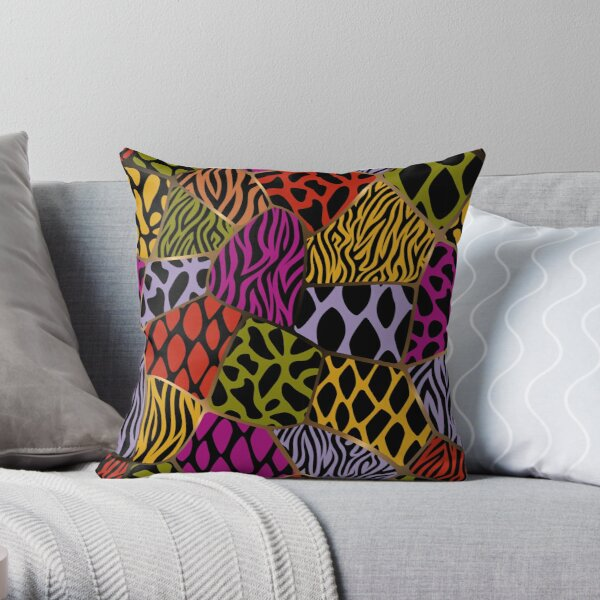 Animal Patterns – Freeform Style Throw Pillow