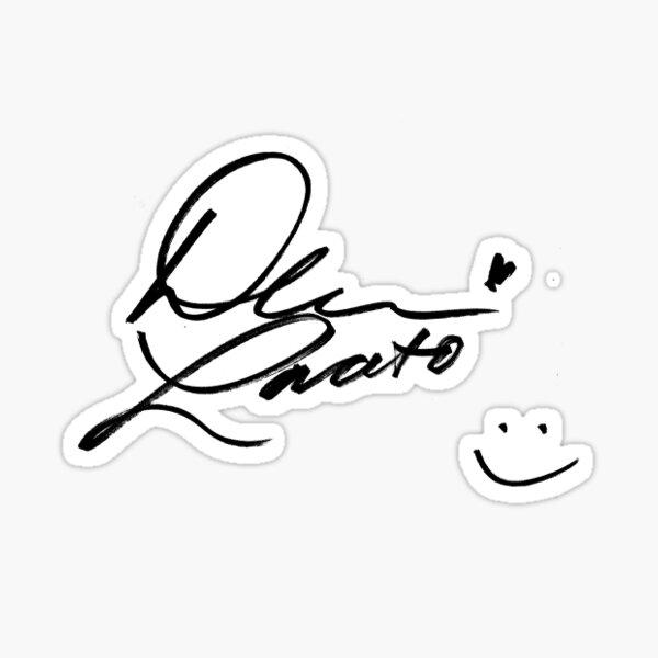 Demi Lovato Signature Stickers Redbubble
