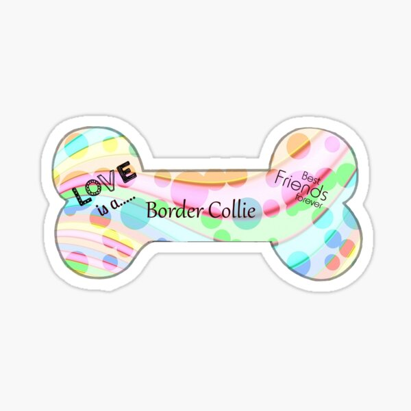Border Collie - personalized gift Sticker