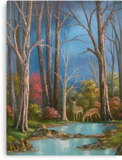 Woodland Pond by Vivian Eagleson