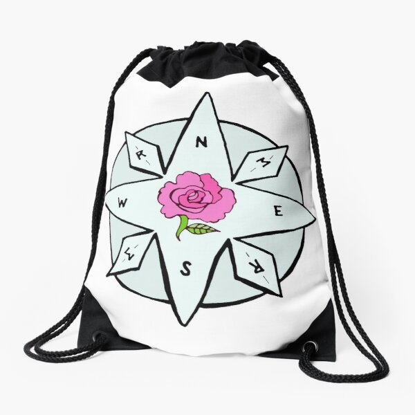 Compass for Rosemary and Maggie Rose Drawstring Bag