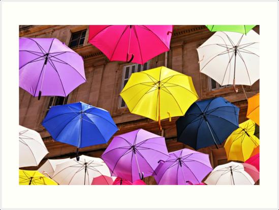 Umbrella street, Arles by eleean0r