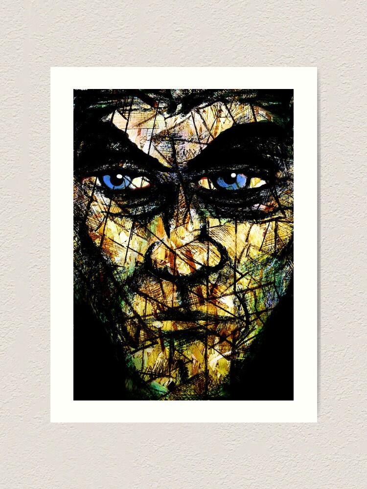 Alternate view of Long Face Wide Art Print
