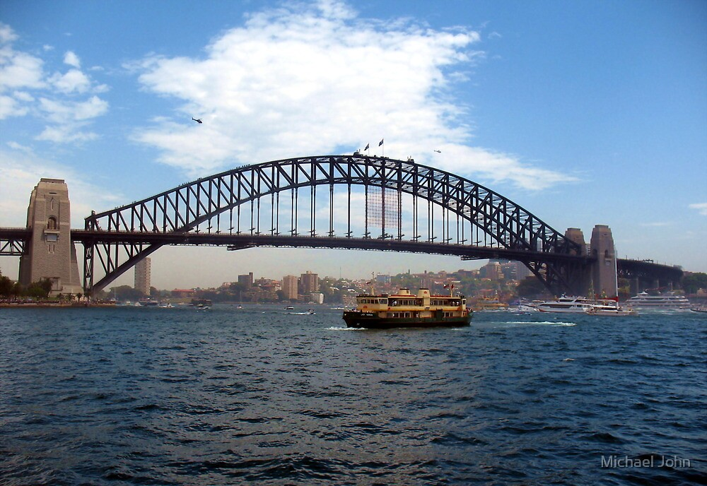 Australia Day on Sydney Harbour by Michael John