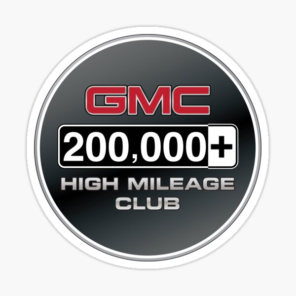 GMC High Mileage Club - 200,000+ Miles Sticker