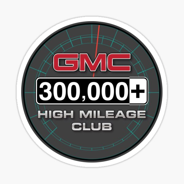 GMC High Mileage Club - 300,000+ Miles Sticker