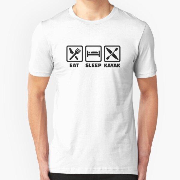 Eat Sleep Kayak Slim Fit T-Shirt