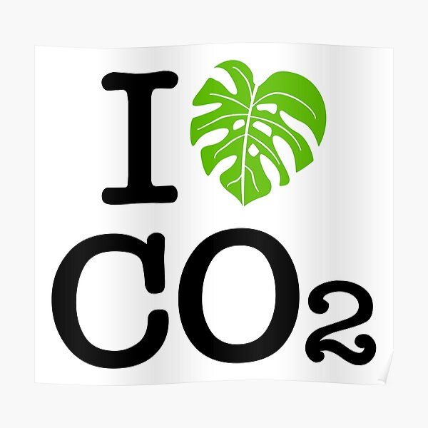 I love Co2 Ich liebe Co2 Poster