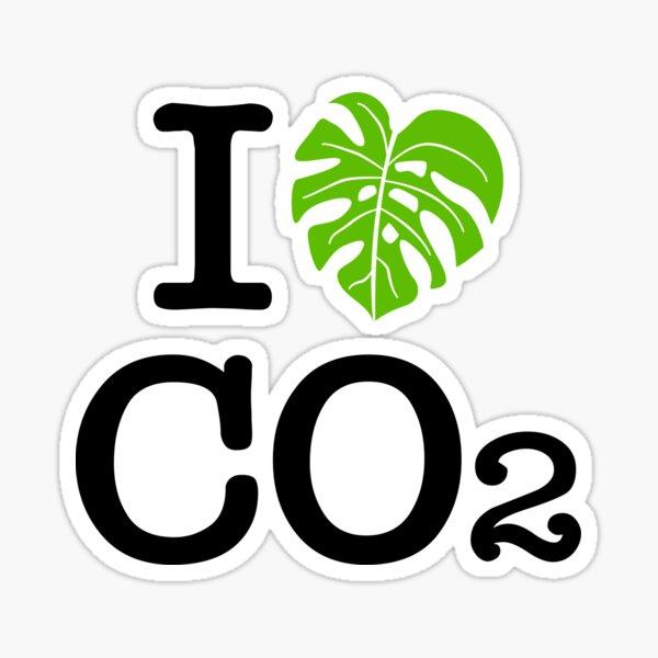 I love Co2 Ich liebe Co2 Sticker