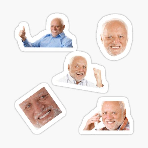 Paquete de pegatinas Hide The Pain Harold Meme Pegatina