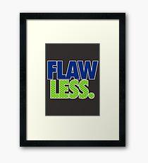 FLAW - LESS Framed Print