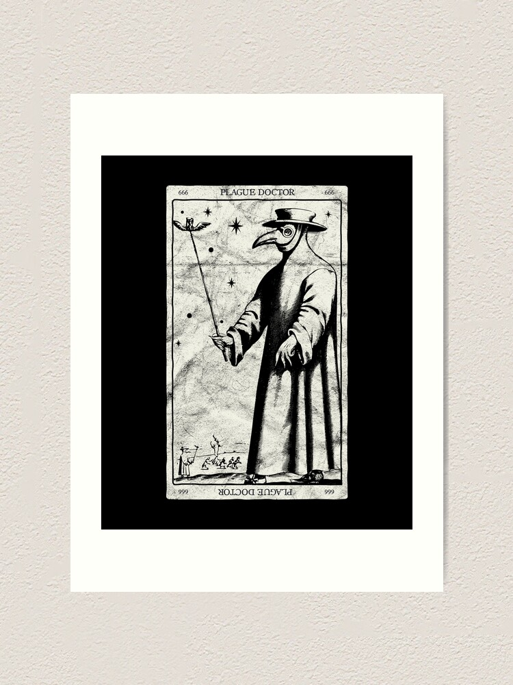 Plague Doctor Occult Black Death Tarot Card Antichrist Witch Design Art Print By A Fashion Redbubble