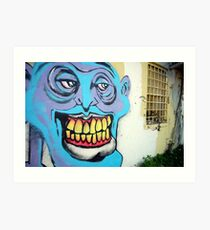 Seedy Faces in Seedy Places Art Print
