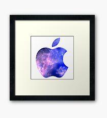 Galaxy Apple Logo Framed Print