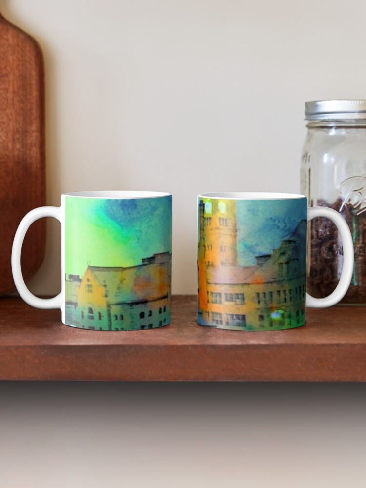 Alternate view of Clock Tower in Rain Mug