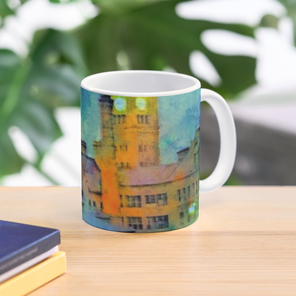 Clock Tower in Rain Mug