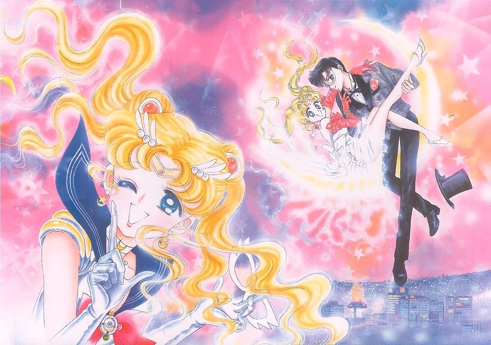Bishoujo Sailor moon & Tuxedo Mask by Gumnakyo