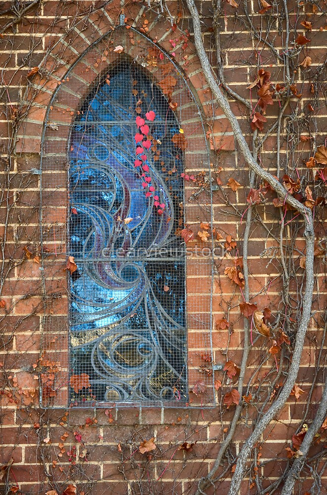 Gostwyck Chapel Window - Autumn by clearviewstock