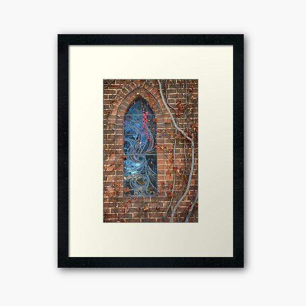 Gostwyck Chapel Window - Autumn Framed Art Print