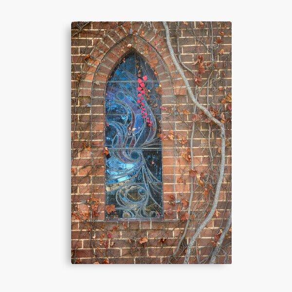 Gostwyck Chapel Window - Autumn Metal Print