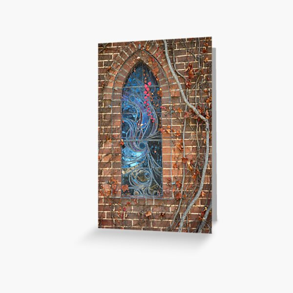 Gostwyck Chapel Window - Autumn Greeting Card