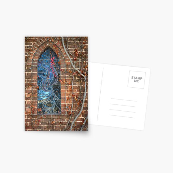 Gostwyck Chapel Window - Autumn Postcard