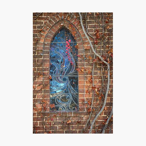 Gostwyck Chapel Window - Autumn Photographic Print
