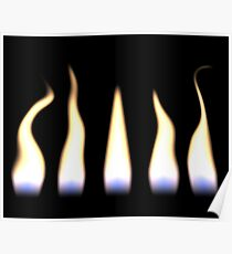 Flickering Flames Poster