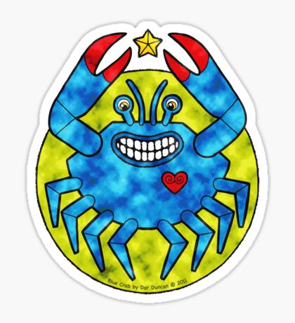 Blue Crab (Clouds) Sticker