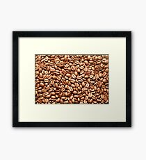 Rich Brown Coffee Beans Background Pattern Texture Framed Print