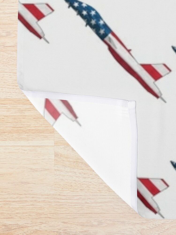 Alternate view of American Flag Military Jet Shower Curtain