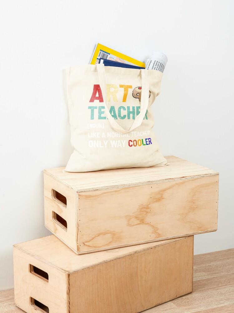 Alternate view of Art Teacher Tote Bag