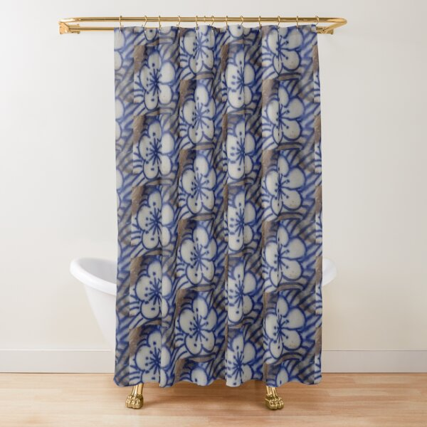 Blue Bloom Shower Curtain
