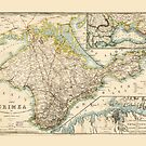 The Crimea (Ukraine) Sevastopol Region Map circa 1855 by allhistory