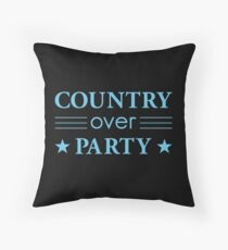 Country Over Party Unified US Politics Throw Pillow