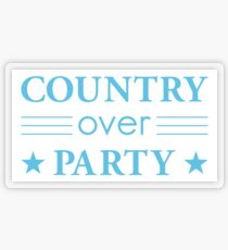 Country Over Party Unified US Politics Transparent Sticker