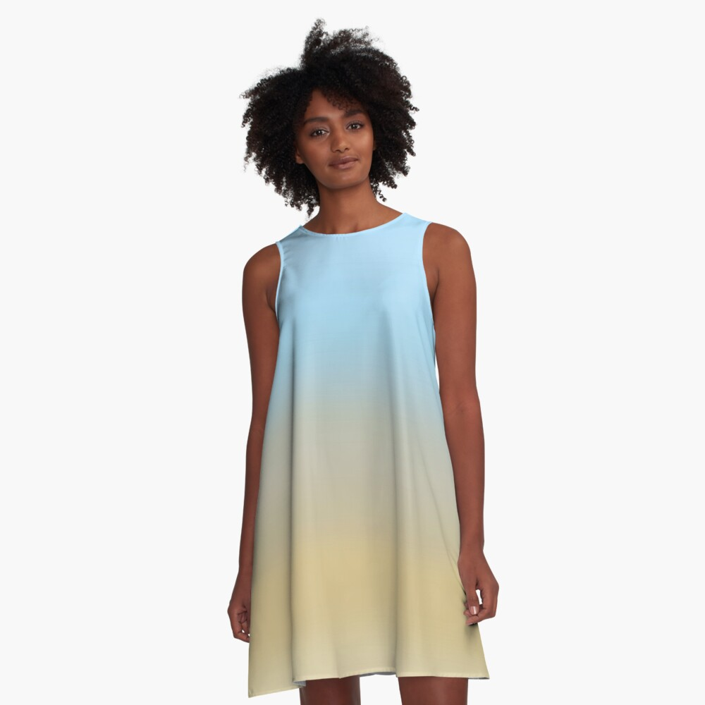 Beach fading A-Line Dress