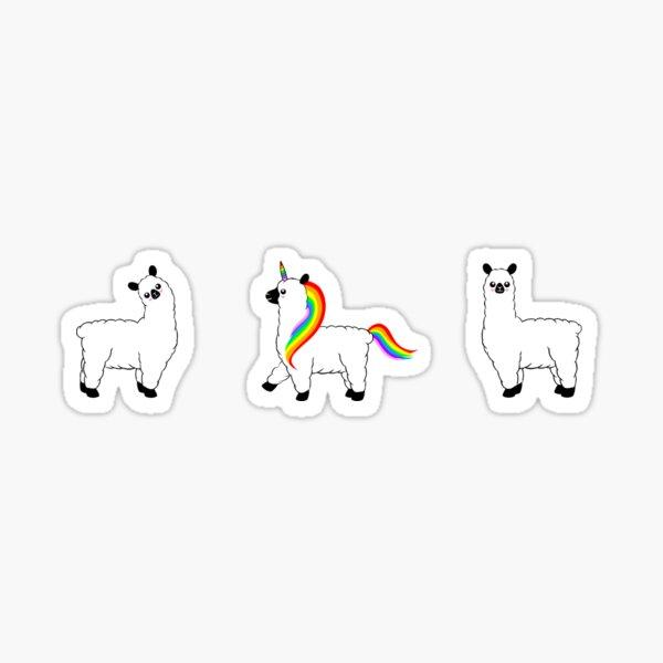 Llamacorn and Llamas Sticker