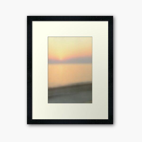 Blurred Sunset Framed Art Print