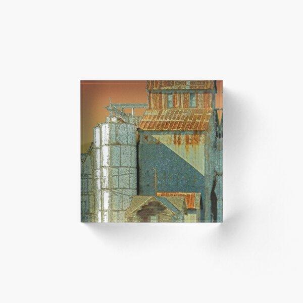 Grain Mill Acrylic Block