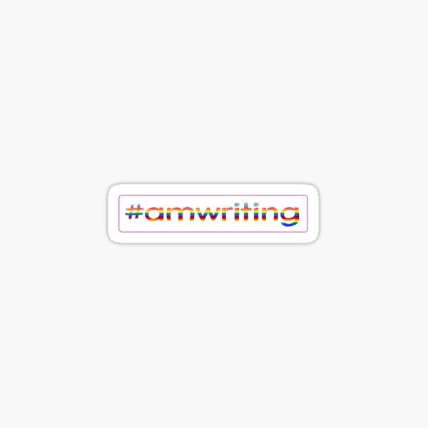 LGBTQ #amwriting Sticker
