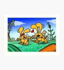 Hot Bunnies Art Print