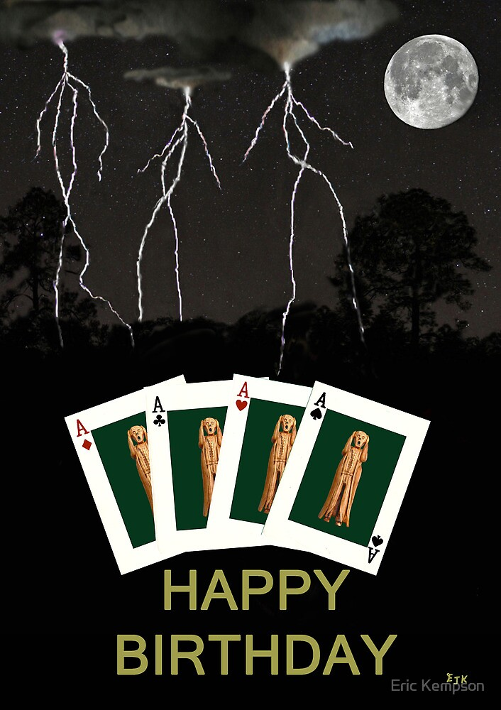 Four Aces Happy Birthday by Eric Kempson