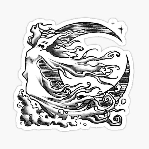 "Covens ""Halloween Ghost"" Tattoo Design Sticker"